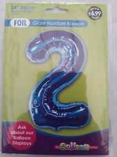 2 Giant Foil Number Air Helium Balloon Birthday Party Wedding UK balloon factorf
