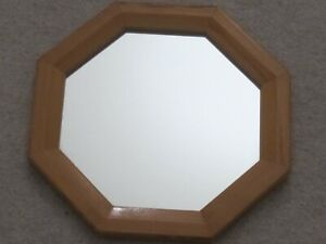 Octagonal Pine Mirror 9 1/2 by 9 1/2 ins