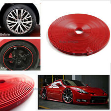 Red Car Wheel Hub Rim Protector Ring Guard Sticker Line Rubber Strips For Nissan