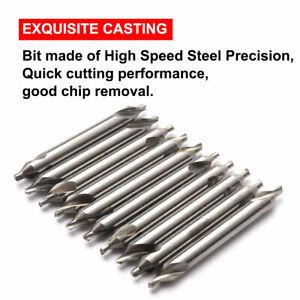 10x Tip 1mm HSS Center Drill Bit Countersink 60° Helix Angle Drilling Tool