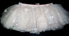 NWT Mirella Ballet Dance Pink Velvet Hearts Tutu Skirt Girls Child 4/6 MS56C