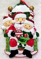 Santa Visit Christmas Ornament Break Resistant Ribbon Hanger Resin New