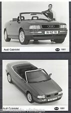 PRESS - FOTO/PHOTO/PICTURE - Audi Cabriolet Set of 3 Photos 1991
