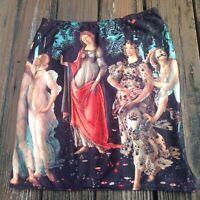 Boticelli's Spring Painting Skirt L Womens Elastic Waist Daang Goodman Tripp NYC