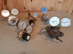 Air Pressure Regulator Lot, Fisher Scientific, HOKE, MG, Linde - QTY 5