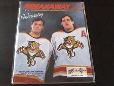 Florida Panthers Program 2/29/96 vs Capitals John Vanbiesbrouck Mellanby