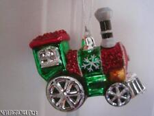 Blown Glass Train~Choo Choo~Locomotive Christmas Ornament~Nwt