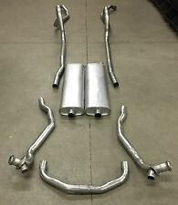 1957 CHEVY HARDTOP DUAL EXHAUST SYSTEM, ALUMINIZED, EXCEPT WAGONS