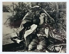 Rudolph Valentino & Agnes Ayers The Sheik Silent Movie Photo Vintage