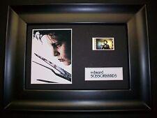 EDWARD SCISSORHANDS Framed Movie Film Cell Memorabilia Compliments poster dvd