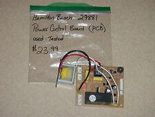 Hamilton Beach Bread Machine Power Control Board PCB Model 29881 Type BM07