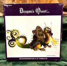 Vintage Dragon's Quest puzzle Butterfly Nordev co. Sealed Art Linda Lou Morgan