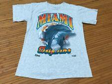 SMALL - Vtg 1992 Miami Dolphins 90s Single Stitch Salem Sportswear T-shirt USA