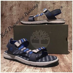 Timberland Men Governor Island Backstrap Sandals A1UVC251 NAVY Synthetic. SZ:12