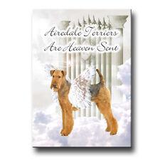 AIREDALE TERRIER Heaven Sent FRIDGE MAGNET Gift DOG Pet Loss