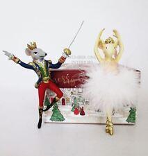 Nutcracker Ballet Christmas decorations Mouse King & Mouse Ballerina ornaments