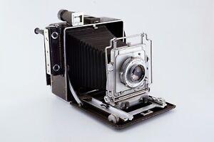 Busch Pressman Model D 4x5 press / field camera, Wollensak Raptar 135mm f/4.7