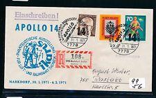 98687) Weltraum Apollo 14 SoU Markdorf sp. Reco Label... IKARUS 71