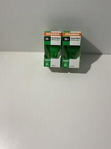 Green Light Bulbs- Sylvania 38 Watt Indoor/Outdoor 2 bulbs new Pack