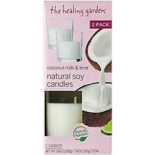 The Healing Garden Coconut Milk & Lime Natural Soy Candles 3.8 oz each - 2 Pack