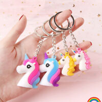 Silicone Unicorn Keyring Pendant Key Chain Kid Girls Birthday Party Decor Gift