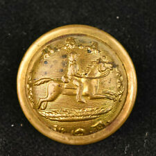 """VTG Scovill Mfg Co Waterbury Gold Toned Metal Button USA POD Post Office 7/8"""""""
