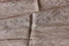 Antique French 19thC Lyon Patterned Silk Brocade Sample Fabric~Dolls,HomeDec
