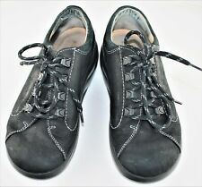 Women's Tie Loafer US 6 Black Suede preowned