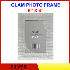 GLAMOROUS Sliver Metallic CHIC Free Standing & Hanging Picture Photo Frame 6 x 4