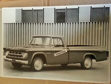 """12 By 18"""" Black & White PICTURE of 1968 Dodge 100 Pick up truck"""