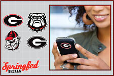 Georgia Bulldogs STICKERS COMBO 4 pack #3 Vinyl Decals Car Truck Cellphones UGA