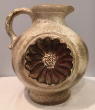 "Dumler & Breiden Keramik Large Pottery 12"" Pitcher Mint Sticker 6.5 lbs Germany"