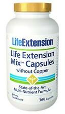 Life Extension Mix Capsules Without Copper NEW FORMULA! 360 caps 30 Day Supply