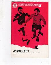 ROTHERHAM UNITED V LINCOLN CITY LEAGUE CUP 20/8/74