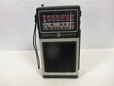 General Electric 7-2927C AM FM Radio Portable Hand Held TV Sound Vintage GE