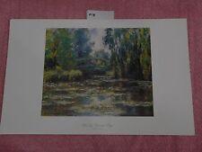 Water Lily Pond with Bridge Claude Monet size 11x17 Vintage Art, Print