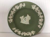 Wedgwood Jasperware Green Ashtray Trinket Dish Cameo Roman Cupid England Vintage