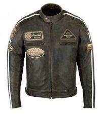 Motorrad Lederjacke Chopper Vintag Motorrad Leder Jacke Cafe Racer Jacke Neu