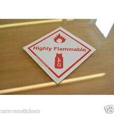 LPG Retro Caravan Motorhome Gas Locker Badge Sticker Decal Graphic - SINGLE