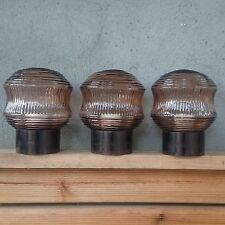 RETRO Vintage ART DECO Mid Century BAKELITE Glass Shade Lamp LIGHT FIXTURE