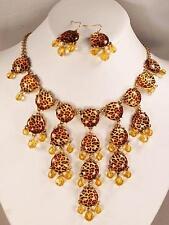 Bib Necklace Set Animal Print Bubble Fashion Jewelry