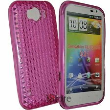Cover Custodia Per HTC Sensation XL Gel TPU Fucsia + Pellicola Salva Display LCD