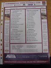 19/10/2013 Colour Teamsheet: Northampton Town v Dagenham and Redbridge. This ite