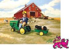 Jigsaw puzzle Tractor John Deere Ride 1000 piece Collector's Tin NEW