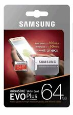 Samsung Memory Evo Plus 64GB U3 Micro SD Card 100MB/s with Adapter