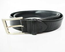 Canali Classic Mens Leather Belt Black Size 42