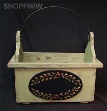 Hand-Crafted Green Wood Garden Caddy Tote From By the Cottage Door Made In USA
