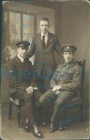 WW1 Brecknockshire Battalion Royal flying corps pilot wings studio photo