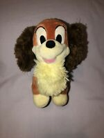 Lady and the Tramp Small Stuffed Plush Disney Store Fluffy Rare HTF 7""