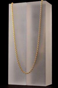 Ankerkette 925 Silber Halskette 24 Karat Vergoldet Silberkette Echtsilber Ø 2 mm